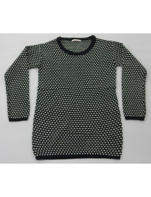 STOCK WHOLESALE LADIES TWISTING LONG SLEEVE SWEATER