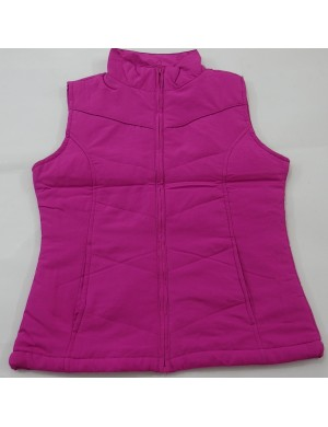 STOCK WHOLESALE LADIES FULL ZIPPER PADDING VEST