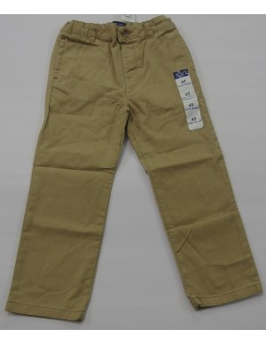 STOCK WHOLESALE BOYS 4 POCKET TWILL LONG PANT