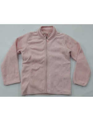 STOCK WHOLESALE GIRLS FULL ZIPPER LONG SLEEVE FLEECE JACKET