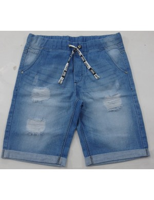 STOCK WHOLESALE MEN 4 POCKET DENIM JOGGER SHORTS