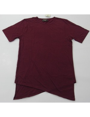 STOCK WHOLESALE MEN'S LONGER LENGTH SHORT SLEEVE FASHION T - SHIRT