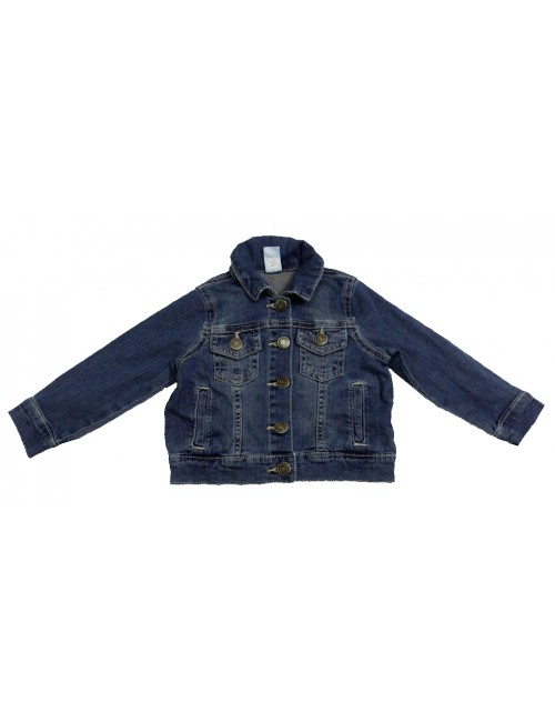 STOCK WHOLESALE GIRLS STRETCH DENIM LONG JACKET