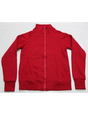STOCK WHOLESALE LADIES FULL ZIPPER LONG SLEEVE FLEECE JACKET